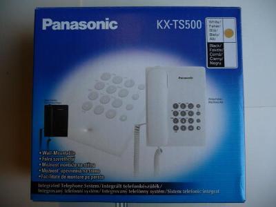 Stolní telefon - PANASONIC KX-TS500 - bílá barva
