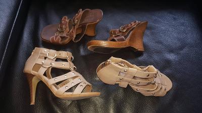 Dámská obuv - za 2 páry - délka 22cm , v-36