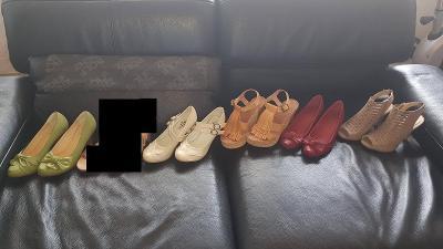 Dámská obuv - za 5 párů - délka 23cm