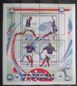Čad 2000 Fotbalisti Mi# 2152-55 Bogen Kat 20€ 1128