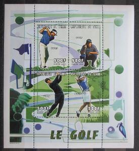 Čad 2000 Golfisti Mi# 2156-59 Bogen Kat 20€ 1128