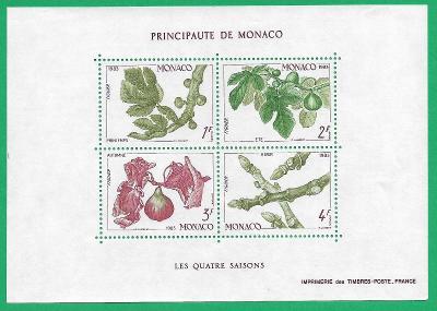 MONAKO 1983 The four seasons Monaco ** MNH Michel MC BL24 // CV9,0€