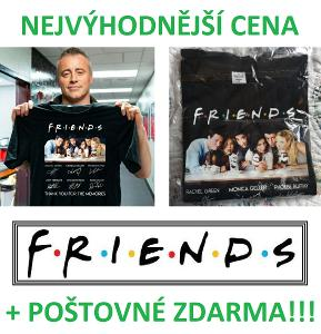 FRIENDS (Přátelé) seriálové pamětní tričko s podpisy postav - vel.4