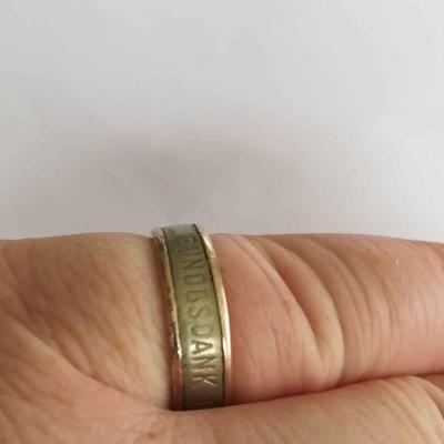 1.sv.válka darovací prsten se zlatou vložkou (Německo) - zákopový