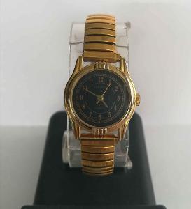 Japonské dámské hodinky, pozlacené - starší bez závad,průměr cca 250mm