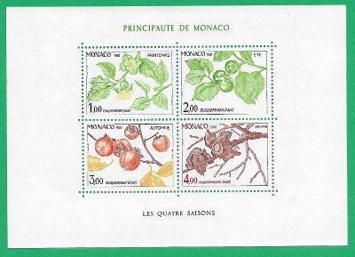 MONAKO 1981 In the four seasons Monaco ** MNH Michel MC BL18