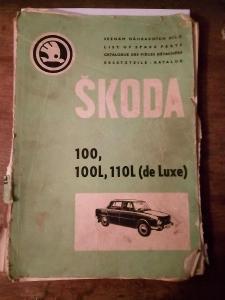 Katalog dílu na škoda 100,100L,110 de luxe