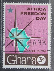 Ghana 1962 Mapa Afriky Mi# 118 1145