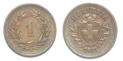 Švýcarsko 1 R 1921