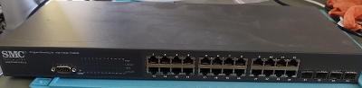 Switch SMC 24 port / 10/100/1000, 4x SFP, SMC8024L2