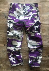 Kalhoty BDU kapsáče  * Violet camo * vel. M pas 90 cm