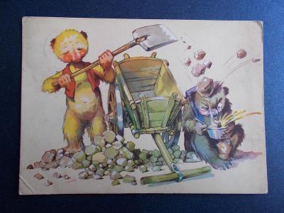 Salač malíř humor žert Příběhy škodolibých medvídků nešika pracuje