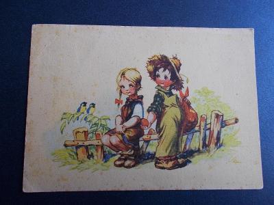 Salač láska zamilovaný pár dívka sadař chlapec sýkorky jablko pokušení