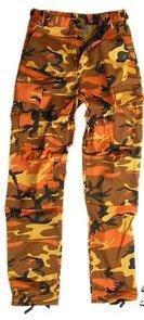 Kalhoty BDU kapsáče * Orange camo * vel. M pas 90 cm
