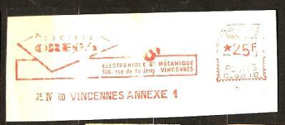 France firemn vystrizok 1960 Vincennes ... P098