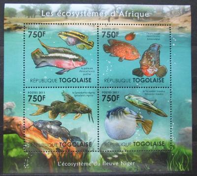 Togo 2011 Ryby řeky Niger Mi# 4189-92 Kat 12€ 2140B