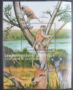Togo 2011 Fauna řeky Niger Mi# Block 649 Kat 12€ 2140B
