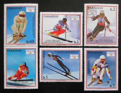 Paraguay 1990 ZOH Albertville s kupónem Mi# 4471-75 Kat 8€ 0922