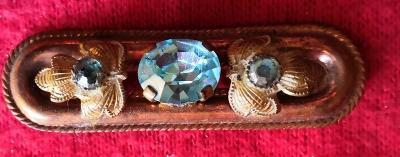 Krásná brož s kamínky...(10600)