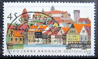 DEUTSCHLAND: MiNr.2309 Kronach 45c, 1000th Anniversary Issue 2003