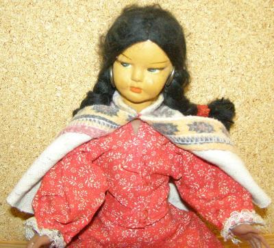 Indiánka malá panenka z Mexika