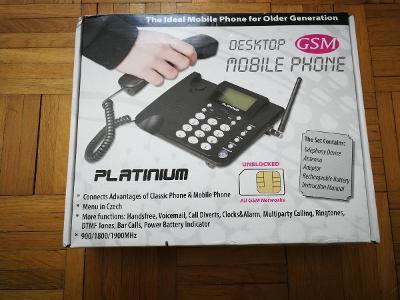 Mobilní sluchátkový telefon (pro seniory)