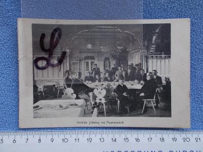 Vsetín Rožnov Maměnka Libušín Radhošť Pustevny jídelna hosté interiér