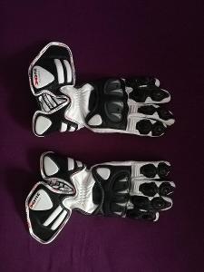 Rukavice na motorku - Sportovní rukavice Rainers X-ONE - bílá/černá