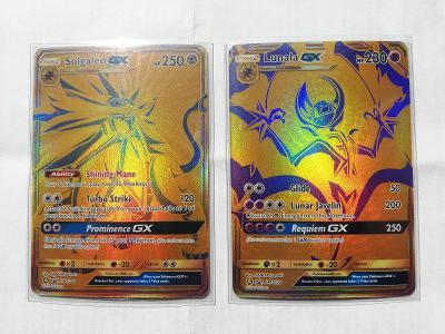 Pokémon tcg karty solgaleo GX + lunala GX promo