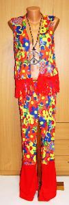 8506 HIPPIES - dámský karnevalový kostým vel.S