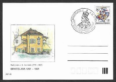 Dopisnice ZFS J. N. Hummel pamětní raz. Bratislava 1991 /ZCS-PDV.34