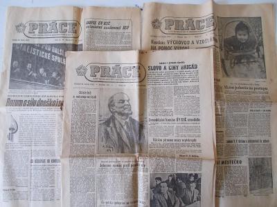 Noviny deník ROH Práce tři kusy rok 1964 socialismus
