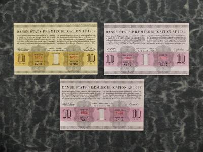 DÁNSKO OBLIGACE 1962-63 VÝBORNÝ STAV