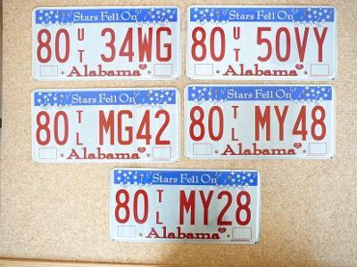 USA SPZ, 5x Alabama originál...