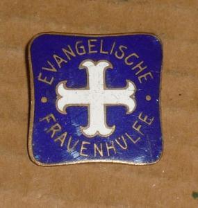 ODZNAK EVANGELISCHE FRAUENHILFE-SMALT cca 1930