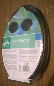 Nožní pumpa, 3 adaptéry na ventil, ohebná hadice 0.8 m