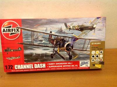 AIRFIX - CHANNEL DASH - Fairey Swordfish Mk.I/Spitfire Mk. Vb, 1/72