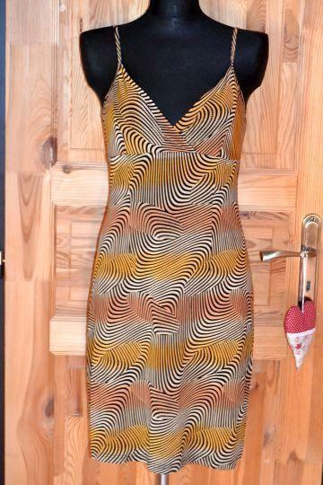 Pěkné letní vzorované šaty na ramínka, vel. S