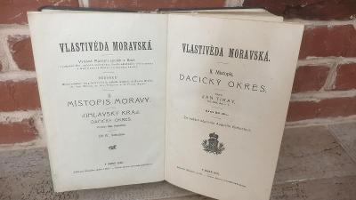 Starožitná kniha o Jihlavskym, Dačickým a Slovonickým okrese z r.1925