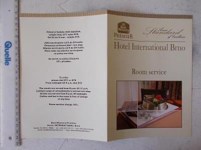 Jídelní lístek Menu nabídka  Interhotel International Brno