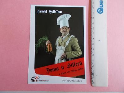 Foto pohlednice Československo herec režisér Arnošt Goldflam U Hitlerů