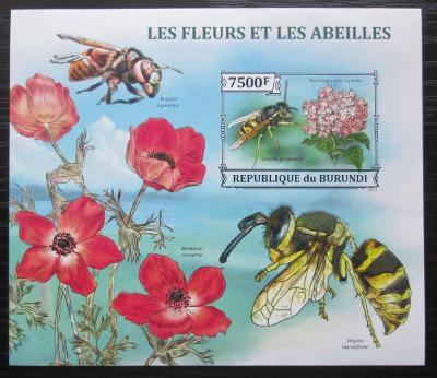 Burundi 2013 Včely a květiny neperf. Mi# Block 382 B 0543