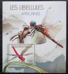 Burundi 2012 Vážky Mi# Block 279 Kat 9€ 0545