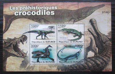 Burundi 2011 Prehistoričtí krokodýli Mi# Block 163 0550