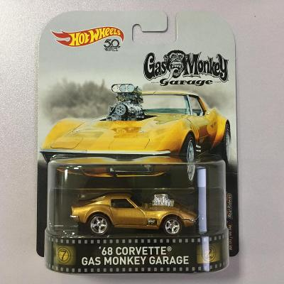 '68 Corvette - Gas Monkey Garage - Real Riders prémiové Hot Wheels