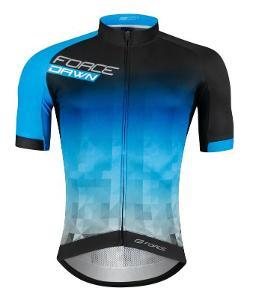 Force DAWN černo-modrý cyklistický dres L