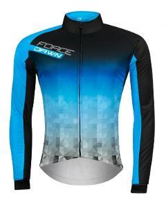 FORCE DAWN WIND černo-modrý cyklistický dres L
