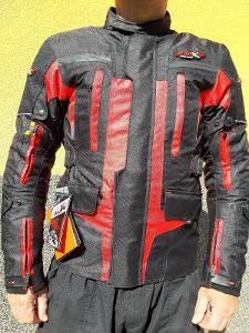 Motorkářská bunda černo/červená velikost S