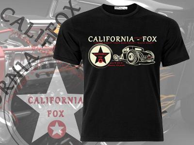 Černé pánské tričko California - Fox  HOD - ROD - maxi velikost 3-4XL
