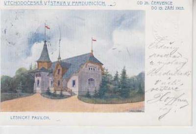 Pardubice, východočeská výstava, lesnický pavilon,